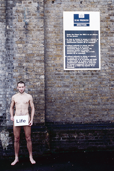 """Naked protestor"" Vincent Bethell, London"