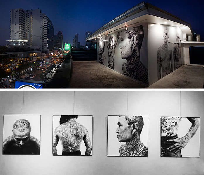 Work installed at Bangkok's Farmani / Rooftop Gallery
