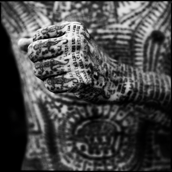Yantra Tattoo detail, fist